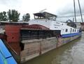 Het achterschip van de  Panta Rhei 2 bij Scheepswerf Jooren in Werkendam.