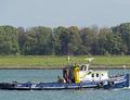 Catharina 7 op de Nieuwe Waterweg bij Rozenburg.