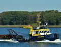 Catharina 6 op de Nieuwe Waterweg bij Rozenburg.