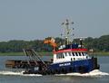 Mon Desir op de Nieuwe Waterweg bij Rozenburg