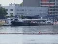 De Christina met de duwboot Haai Maashaven Rotterdam.