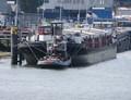 Susanne met de duwboot Boreas Maashaven Rotterdam.