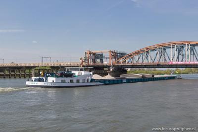 Spauwer op de IJssel in Zutphen.
