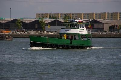 Flandria 5 in de haven van Antwerpen.