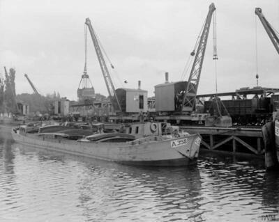 A-358 aan het lossen kanaal Begues.